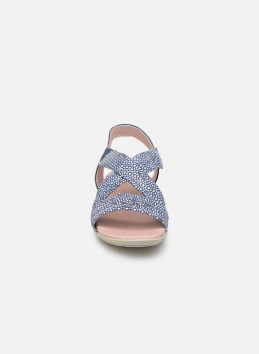 Sandales et nu-pieds Hirica Raiponce Bleu vue portées chaussures