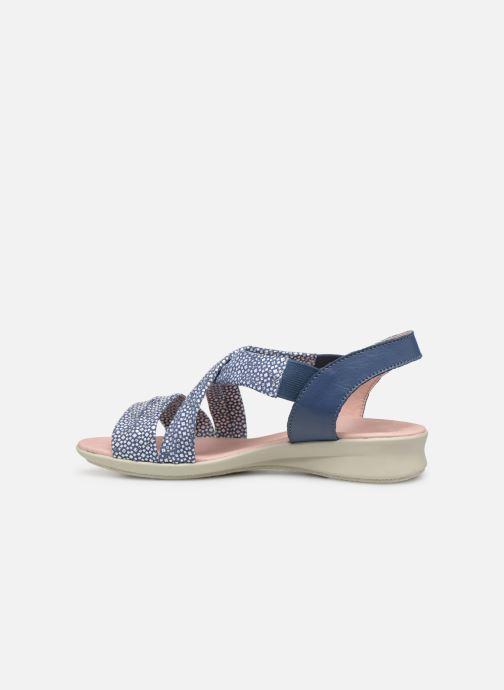 Sandales et nu-pieds Hirica Raiponce Bleu vue face