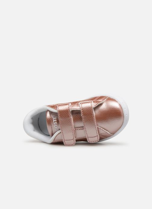 Baskets Lacoste Carnaby Evo 119 6 Inf Rose vue gauche