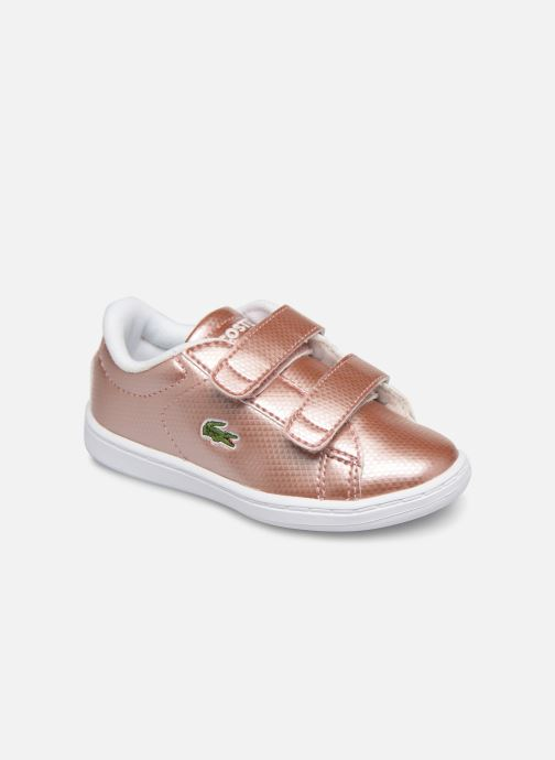 Baskets Lacoste Carnaby Evo 119 6 Inf Rose vue détail/paire