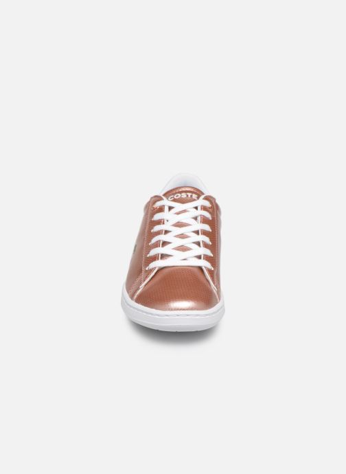 Sneakers Lacoste Carnaby Evo 119 6 Kids Argento modello indossato