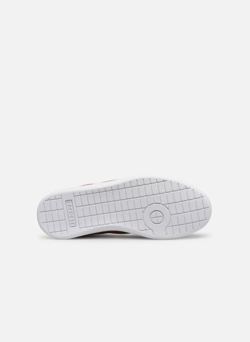 Baskets Lacoste Carnaby Evo 119 6 Kids Argent vue haut