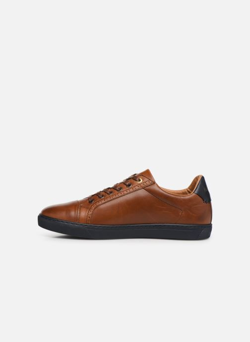 Trainers Pantofola d'Oro Napoli Brogue Uomo Low Brown front view