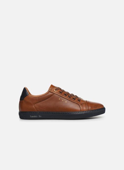 Sneakers Pantofola d'Oro Napoli Brogue Uomo Low Bruin achterkant