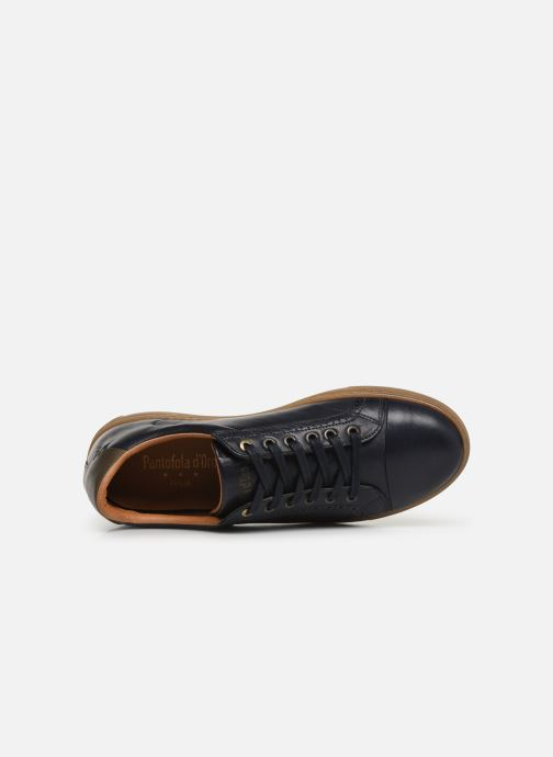 Trainers Pantofola d'Oro Napoli Brogue Uomo Low Blue view from the left