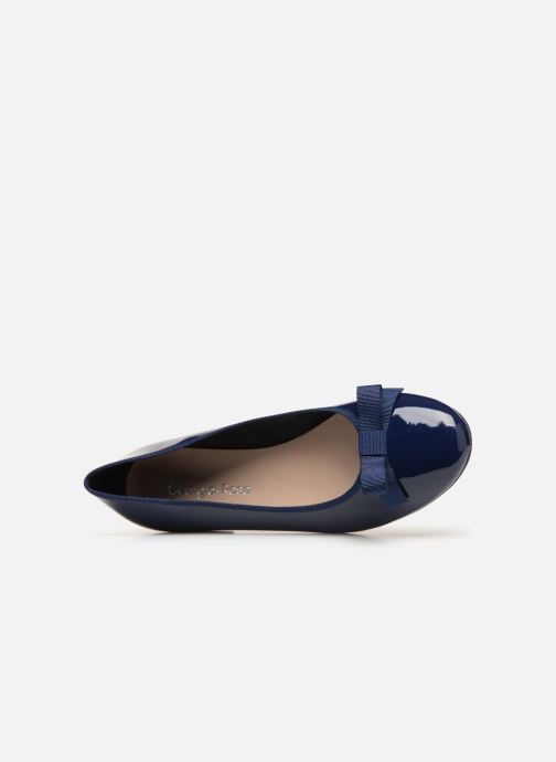 Ballet pumps Georgia Rose Siana Blue view from the left
