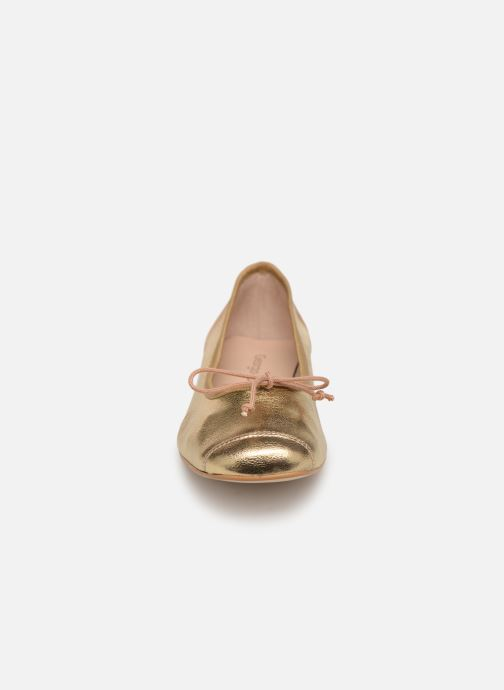 Ballet pumps Georgia Rose Sauchic Bronze and Gold model view