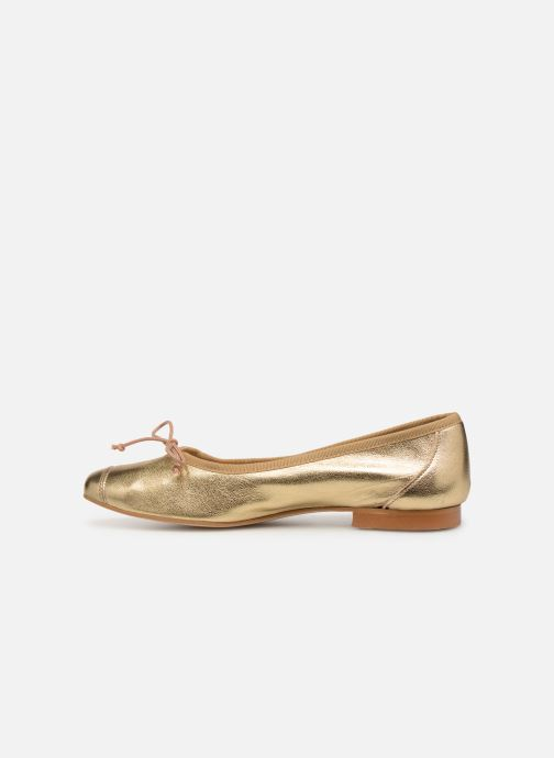 Ballet pumps Georgia Rose Sauchic Bronze and Gold front view