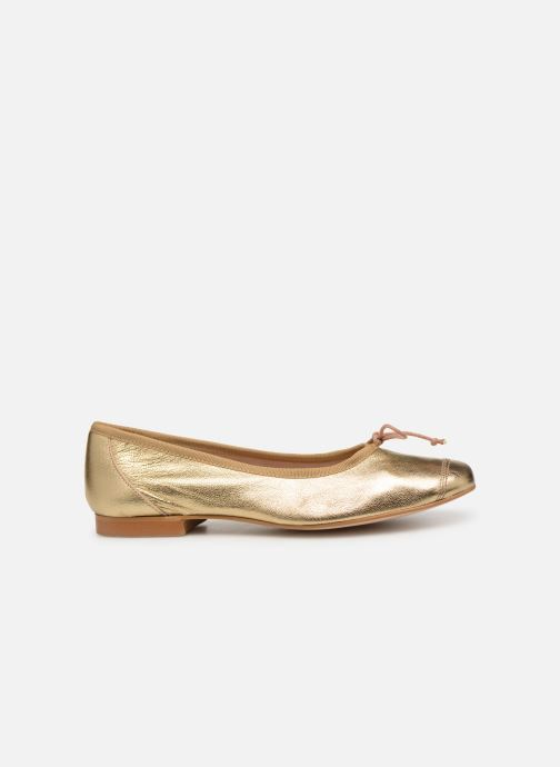 Ballet pumps Georgia Rose Sauchic Bronze and Gold back view