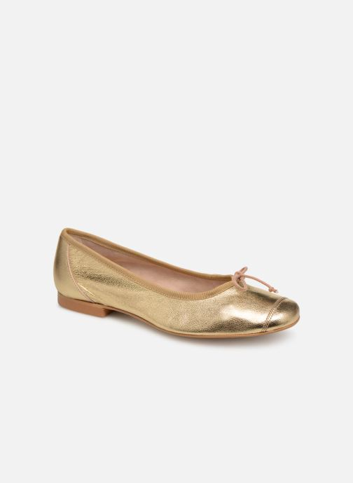 Ballet pumps Georgia Rose Sauchic Bronze and Gold detailed view/ Pair view
