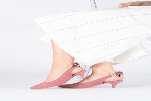 Zapatos de tacón Georgia Rose Sabowa Rosa vista de abajo