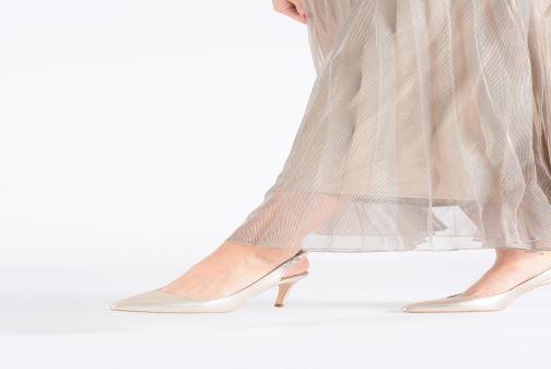 High heels Georgia Rose Sandria Black view from underneath / model view