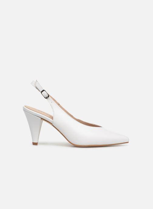 Zapatos de tacón Georgia Rose Sacoma Blanco vistra trasera