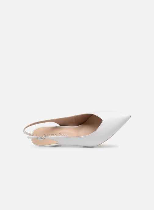 Zapatos de tacón Georgia Rose Sacoma Blanco vista lateral izquierda