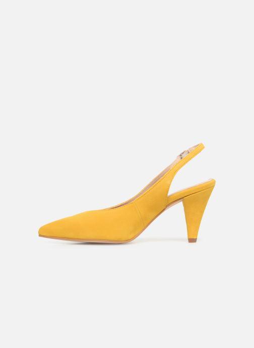 Zapatos de tacón Georgia Rose Sacoma Amarillo vista de frente