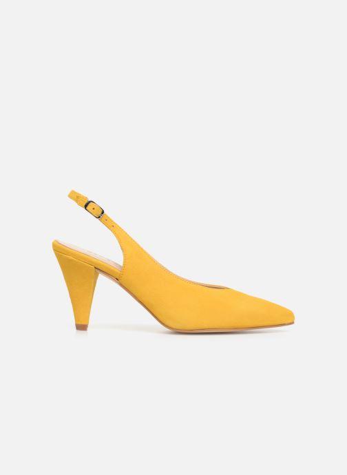 Zapatos de tacón Georgia Rose Sacoma Amarillo vistra trasera