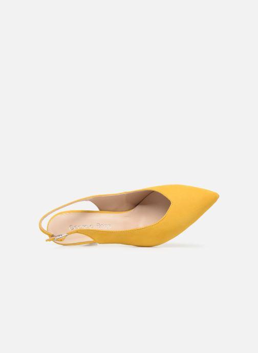 Zapatos de tacón Georgia Rose Sacoma Amarillo vista lateral izquierda