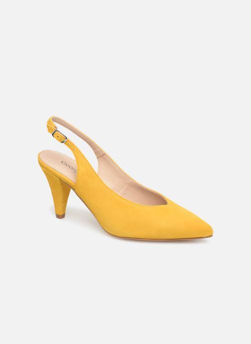 Zapatos de tacón Georgia Rose Sacoma Amarillo vista de detalle / par