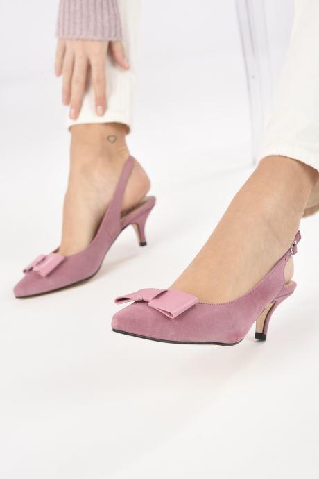 Zapatos de tacón Georgia Rose Sachal Rosa vista de abajo