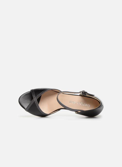 Zapatos de tacón Georgia Rose Sandrima Negro vista lateral izquierda