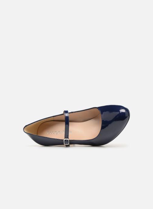 Zapatos de tacón Georgia Rose Sheima Azul vista lateral izquierda
