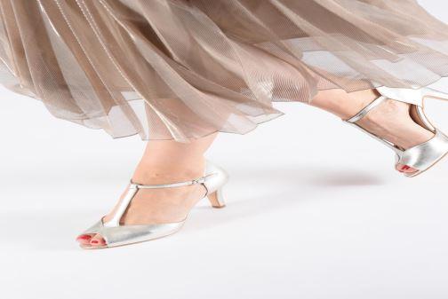 Zapatos de tacón Georgia Rose Souazic Blanco vista de abajo