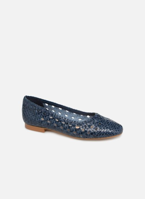 Ballerinaer Georgia Rose Satellia Blå detaljeret billede af skoene