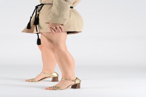 Sandales et nu-pieds Georgia Rose Sobella Or et bronze vue bas / vue portée sac