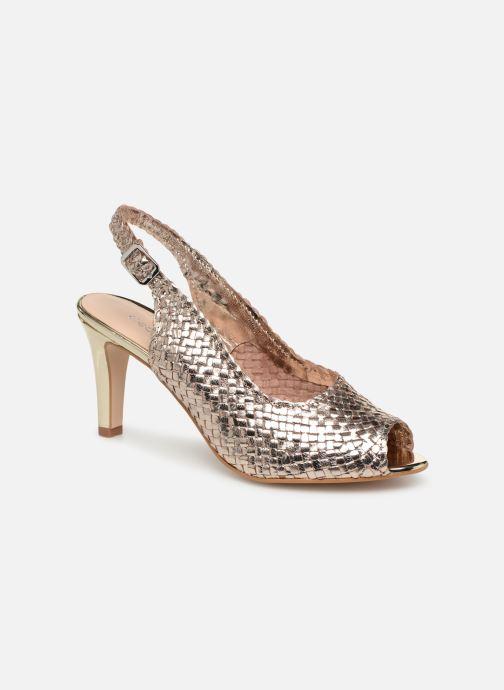 Høje hæle Georgia Rose Strellia Guld og bronze detaljeret billede af skoene