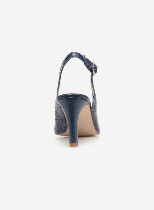 Zapatos de tacón Georgia Rose Strellia Azul vista lateral derecha