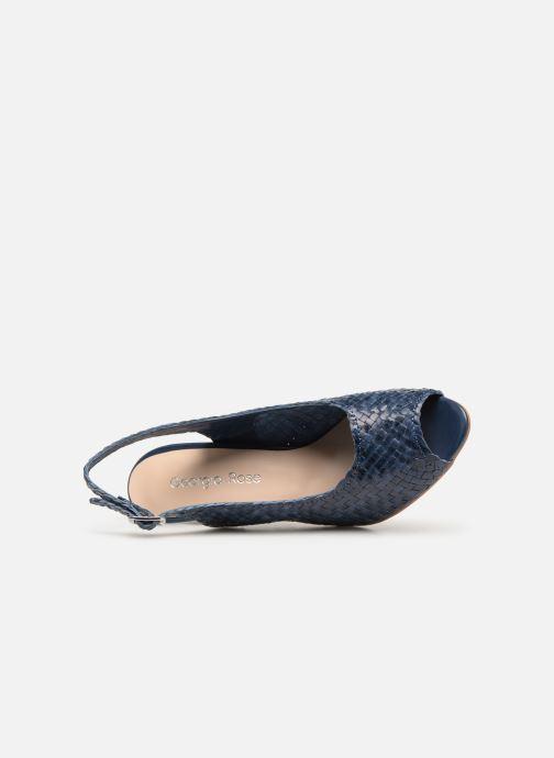 Zapatos de tacón Georgia Rose Strellia Azul vista lateral izquierda