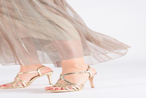 Sandales et nu-pieds Georgia Rose Saulvana Or et bronze vue bas / vue portée sac