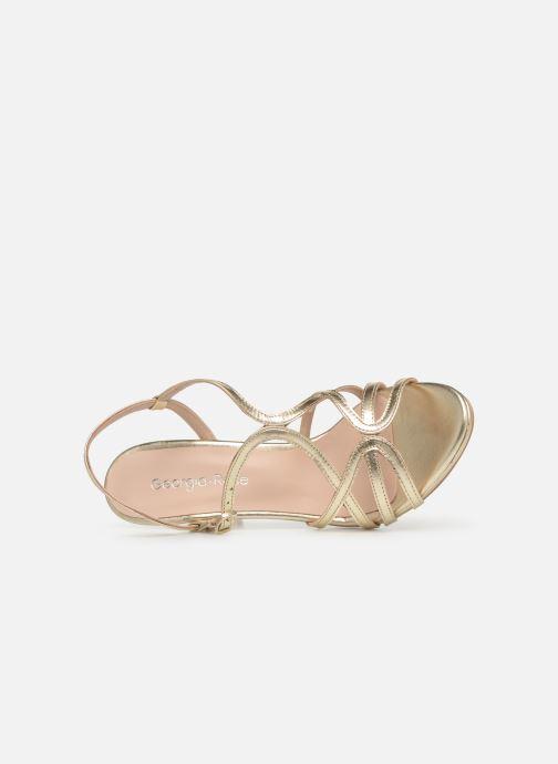 Sandales et nu-pieds Georgia Rose Saulvana Or et bronze vue gauche
