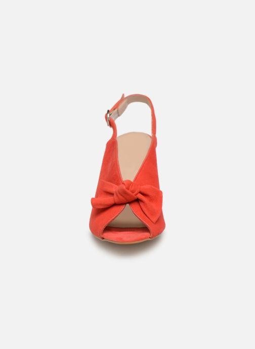 Sandales et nu-pieds Georgia Rose Sultana Rouge vue portées chaussures