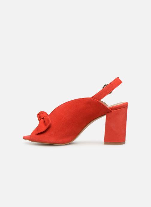 Sandales et nu-pieds Georgia Rose Sultana Rouge vue face