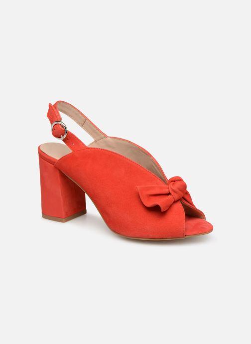 Sandales et nu-pieds Georgia Rose Sultana Rouge vue détail/paire