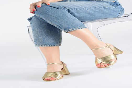 Sandals Georgia Rose Souheila Bronze and Gold view from underneath / model view