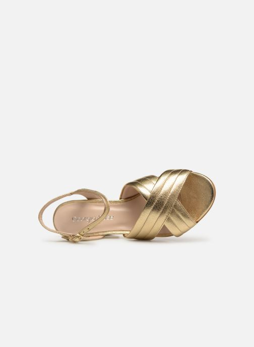 Sandals Georgia Rose Souheila Bronze and Gold view from the left