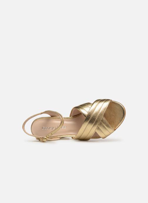 Sandales et nu-pieds Georgia Rose Souheila Or et bronze vue gauche