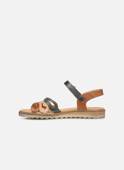 Sandales et nu-pieds Pikolinos Alcudia W1L-0523 Marron vue face