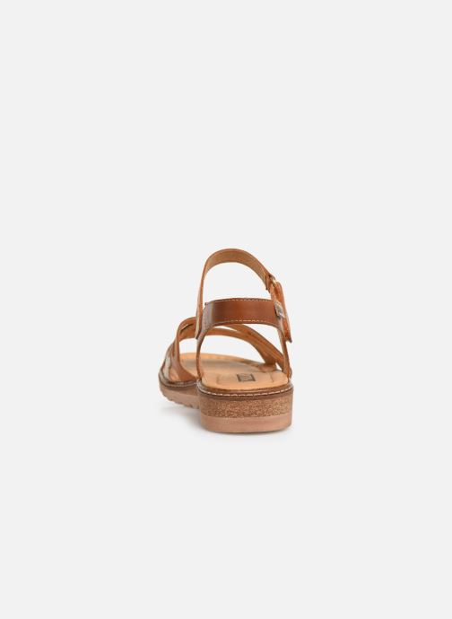 Sandales et nu-pieds Pikolinos Alcudia W1L-0523 Marron vue droite