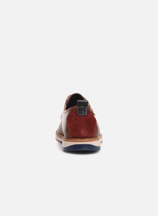 Zapatos con cordones Pikolinos Berna M8J-4273 Marrón vista lateral derecha