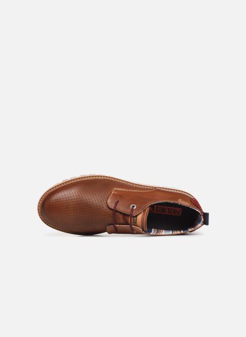 Zapatos con cordones Pikolinos Berna M8J-4273 Marrón vista lateral izquierda