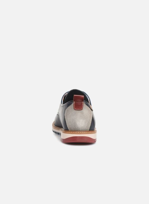 Zapatos con cordones Pikolinos Berna M8J-4273 Azul vista lateral derecha