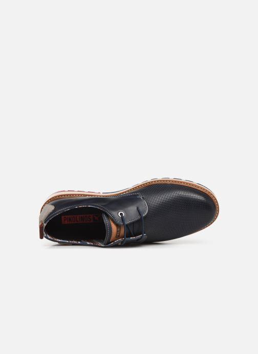Zapatos con cordones Pikolinos Berna M8J-4273 Azul vista lateral izquierda