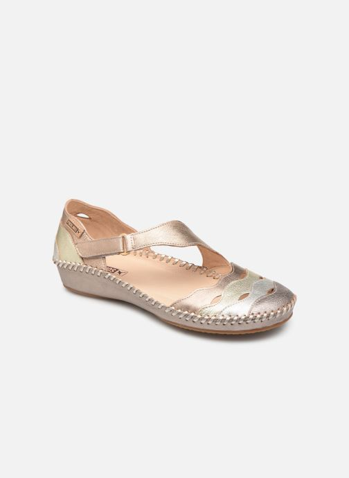 Ballet pumps Pikolinos P. Vallarta 655-0706CLC1 Bronze and Gold detailed view/ Pair view