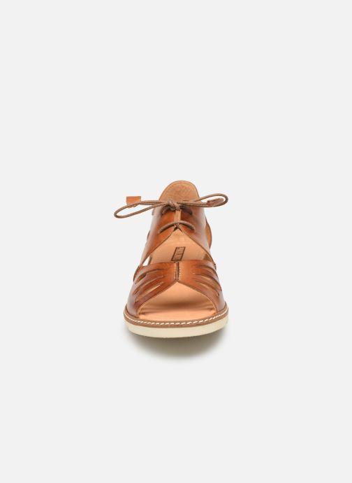 Sandales et nu-pieds Pikolinos Alcudia W1L-0917 Marron vue portées chaussures