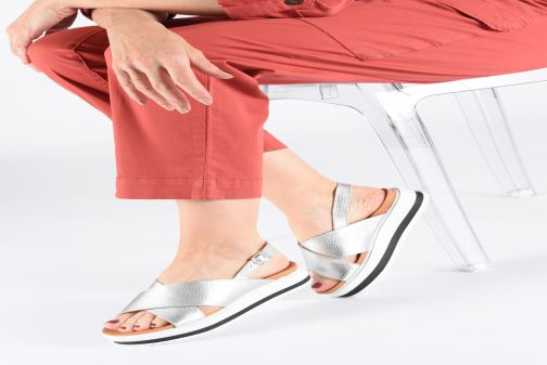 Sandals Made by SARENZA Sport Party Sandales Plates #2 Silver view from underneath / model view