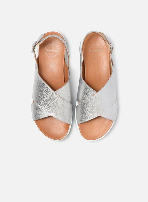Sandales et nu-pieds Made by SARENZA South Village Sandales Plates #2 Argent vue portées chaussures