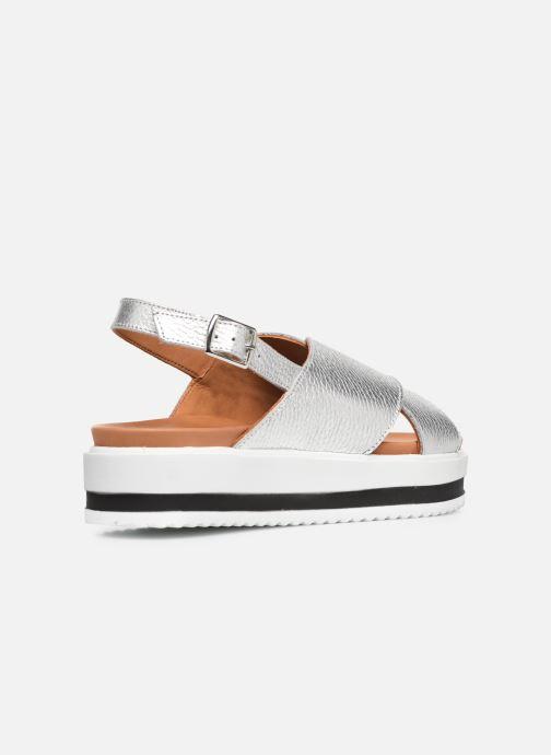 Sandales et nu-pieds Made by SARENZA South Village Sandales Plates #2 Argent vue face